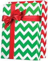 Christmas Chevron Reversible Gift Wrap Wholesale Gift Wrap Paper, Christmas Gift Wrap Paper