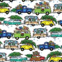 Christmas Vacation White Gift Wrap
