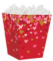 Confetti Hearts Sweet Treat Box Sweet Treat Boxes, Gift Basket Packaging