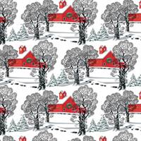 Country Christmas Gift Wrap Paper