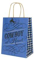 Cowboy at Heart Paper Shopping Bags