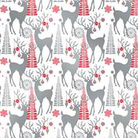 Decorative Deer Gift Wrap
