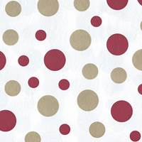 Dots Red & Gold Tissue Paper