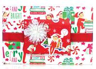 Elf on the Shelf Gift Wrap Paper (Reversible)