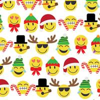Emoji Christmas Gift Wrap Paper Wholesale gift wrap paper, Jillson & Roberts gift wrap, Christmas gift wrap, Winter gift wrap, Holiday gift wrap, Hanukkah gift wrap