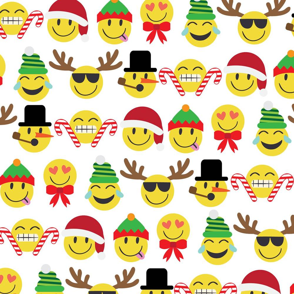 Holiday Tissue Paper - Made in USA - Emoji Christmas Tissue Paper #XPT540