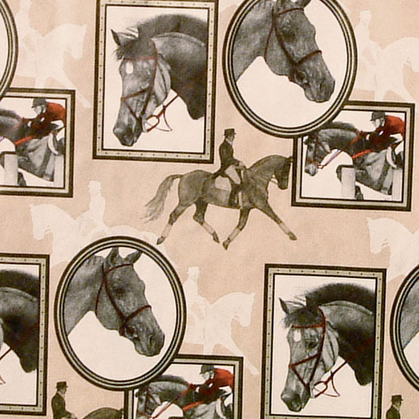 Equestrian Gift Wrap - English Frames Gift Wrap Paper #5030