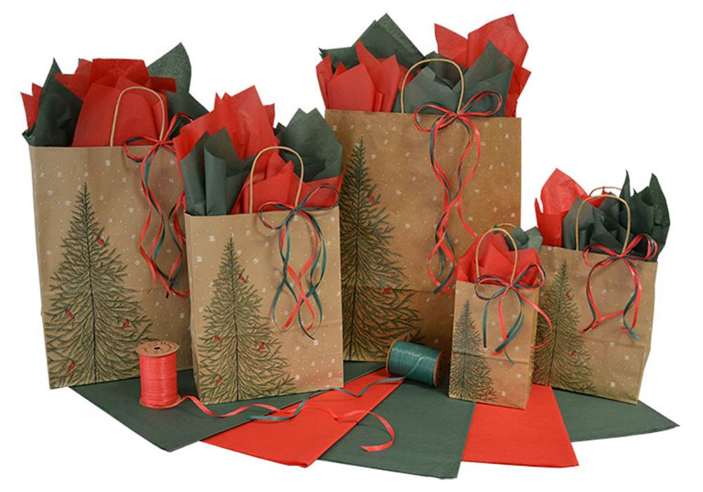 Evergreen forest christmas shopping bags the packaging for Evergreen shop