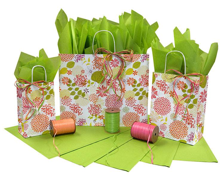 Floral Elements Paper Shopping Bag (Pup)