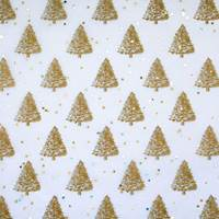 Gemstones Tissue Paper - Gold Pearl Trees
