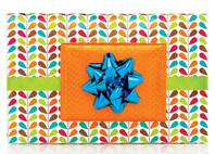 Geo Leaves Gift Wrap Paper (Reversible)