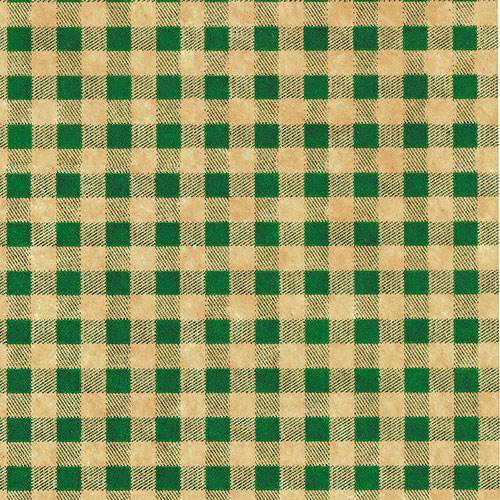 graphic regarding Printable Tissue Paper identified as Gingham Eco-friendly upon Kraft - Wholesale Tissue Paper Types