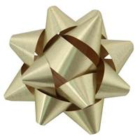 Gold Metallic Tone Star Bows
