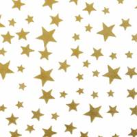 Gold Stars on White Tissue Paper