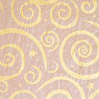 Gold Swirls/Kraft Tissue