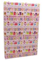 Happy Birthday Girl Gift Wrap (FREE FREIGHT)