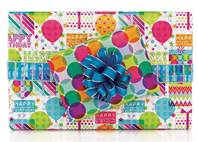 Happy Celebration Gift Wrap Paper (Reversible)