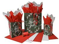 Happy Holly Jolly Paper Shopping Bags (Pup)