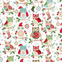 Holiday Hoot Gift Wrap Paper Wholesale gift wrap paper, Jillson & Roberts gift wrap, Christmas gift wrap, Winter gift wrap, Holiday gift wrap, Hanukkah gift wrap