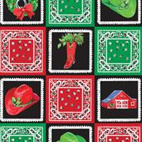 Holiday Quilt Gift Wrap Paper