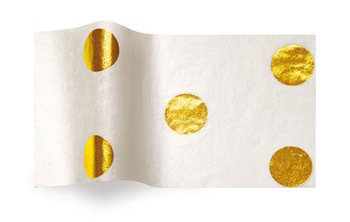 Hot Spots Tissue Paper - Gold