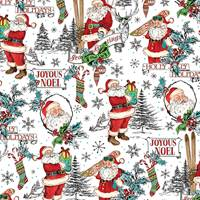Jolly St. Nick Gift Wrap Paper Wholesale gift wrap paper, Jillson & Roberts gift wrap, Christmas gift wrap, Winter gift wrap, Holiday gift wrap, Hanukkah gift wrap