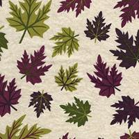 Leaves Plum Tissue Paper