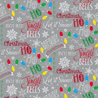 Let It Snow Silver Gift Wrap