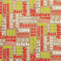 Merry & Bright Reversible Gift Wrap