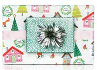 Merryment Houses Gift Wrap Paper (Reversible)