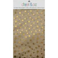 Metallic Gold Dots on Kraft Resale Tissue Paper