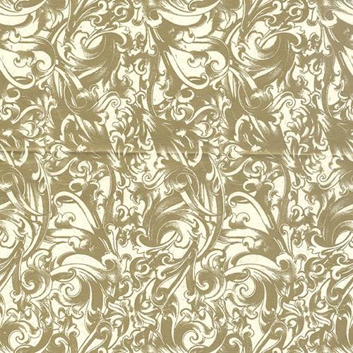 Metallic Scroll Tissue Paper