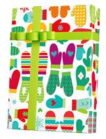 Mod Mittens Gift Wrap Wholesale Gift Wrap Paper, Christmas Gift Wrap Paper