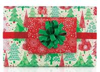 Modern Traditional Gift Wrap Paper (Reversible)