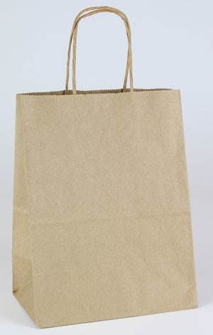 Natural Kraft Shopping Bags (Cub)