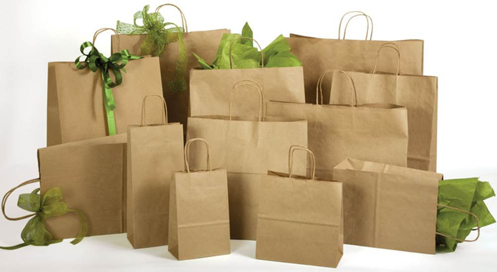 Natural Kraft Shopping Bags - Natural Kraft Shopping Bags (Cub) #NKC