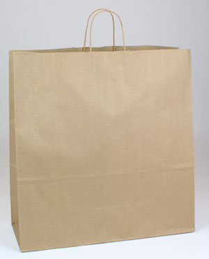 Natural Kraft Shopping Bags - Natural Kraft Shopping Bags (Jumbo) #NKJ