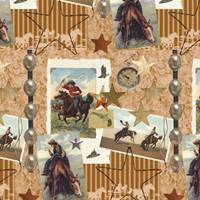 Old West Gift Wrap Paper