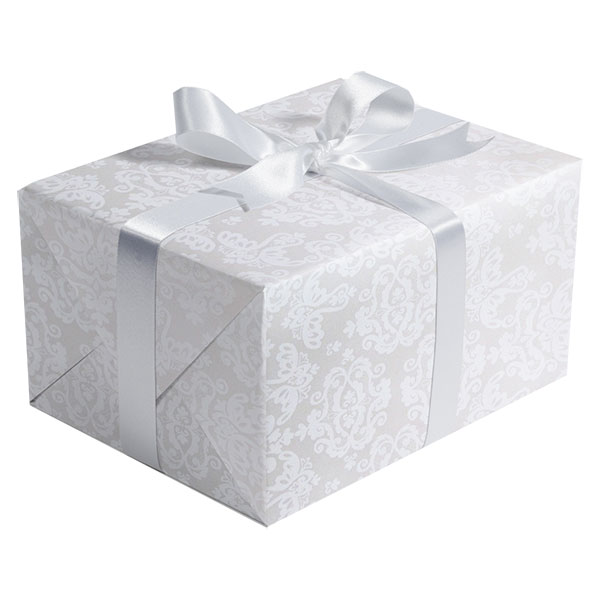 Wedding Gift Paper: Pearl Damask Gift Wrap Paper #B195
