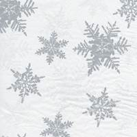 Pearl/Silver Snowflake Tissue Paper