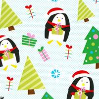 Penguins and Presents Gift Wrap - FREE FREIGHT