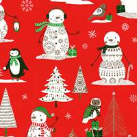 Peter Red Gift Wrap Paper