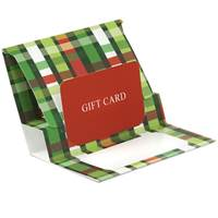 Pop-up Gift Card Holder (Christmas Weave)
