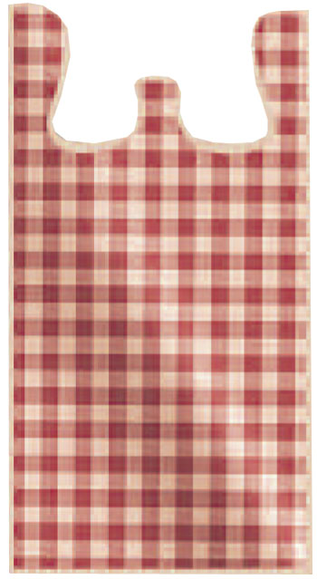 T shirt bags designs red gingham t shirt bags large for Jumbo t shirt bags