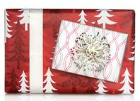 Red Trees Gift Wrap Paper (Reversible)