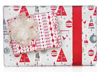 Retro Christmas Gift Wrap Paper (Reversible)