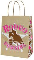 Rodeo Cowgirl Paper Shopping Bags