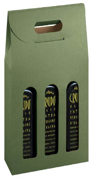 Sage Groove 3 Bottle Box (200ml) Wine bottle carrier, Olive oil bottle carrier, Sage groove bottle carrier