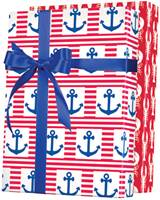 Ship Ahoy! Reversible Gift Wrap Wholesale Gift Wrap Paper, Celebration Gift Wrap Paper, Kids Gift Wrap Paper, Birthday Gift Wrap Paper