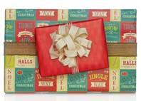 Signs of the Season Gift Wrap Paper (Reversible)